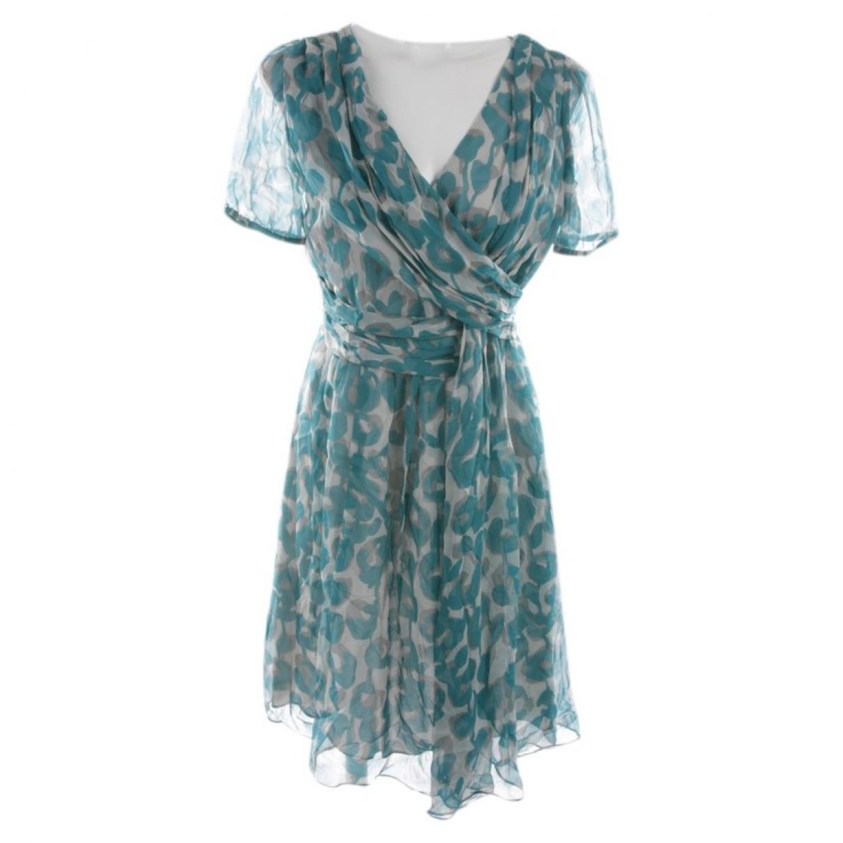 Moschino Cheap And Chic - Robe   pour femme en soie - bleu