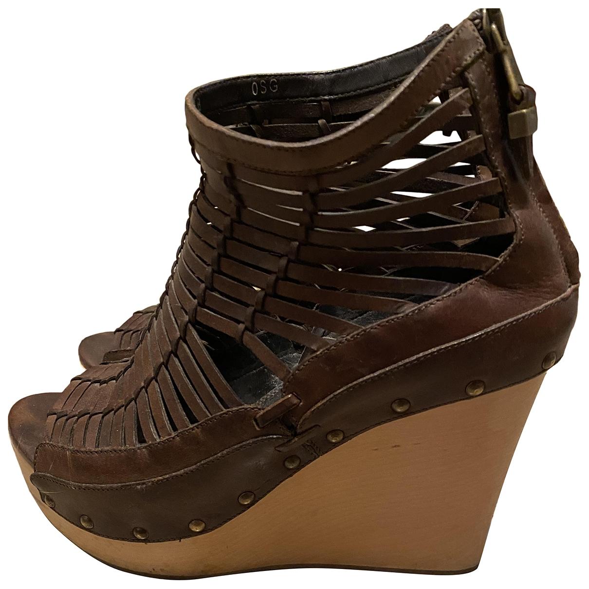 Ralph Lauren Collection \N Brown Leather Sandals for Women 40 EU