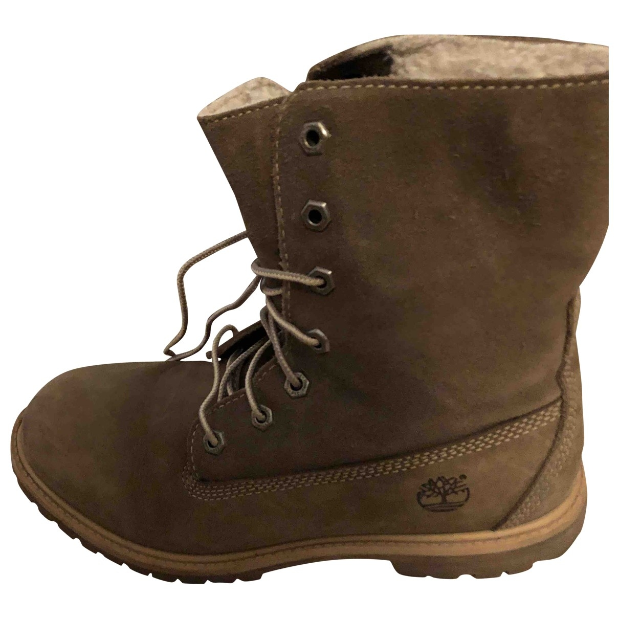Timberland \N Khaki Suede Ankle boots for Women 39 EU