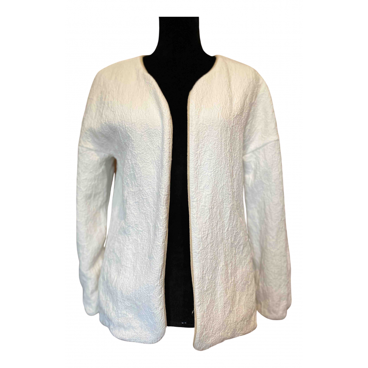 Chaqueta en Algodon Blanco Zara