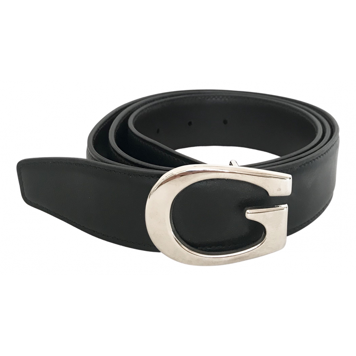 Gucci N Black Leather belt for Men L international