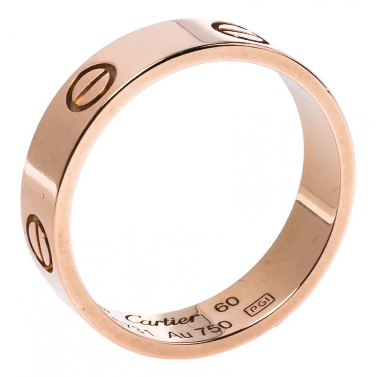 Cartier - Bague Love pour femme en or rose