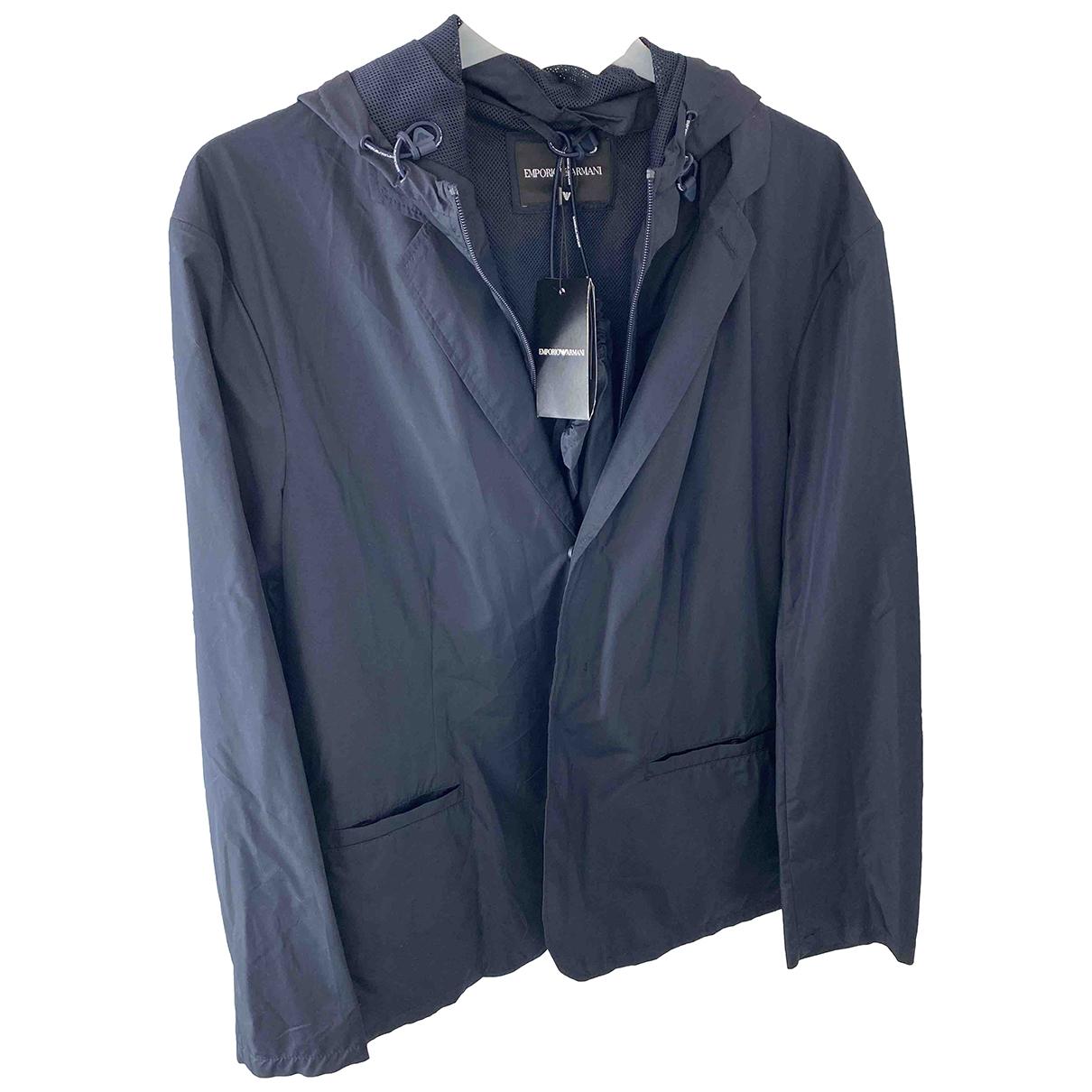 Emporio Armani N Blue jacket  for Men 54 IT