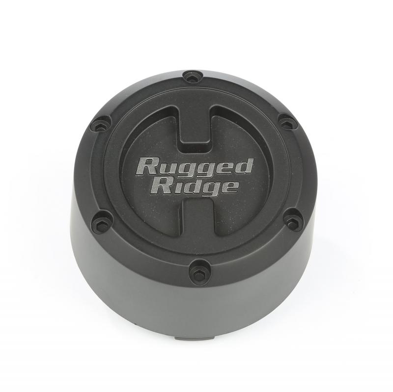 Rugged Ridge 15201.55 XHD Wheel Center Cap, 17x9, Black Jeep Wrangler 2007-2018