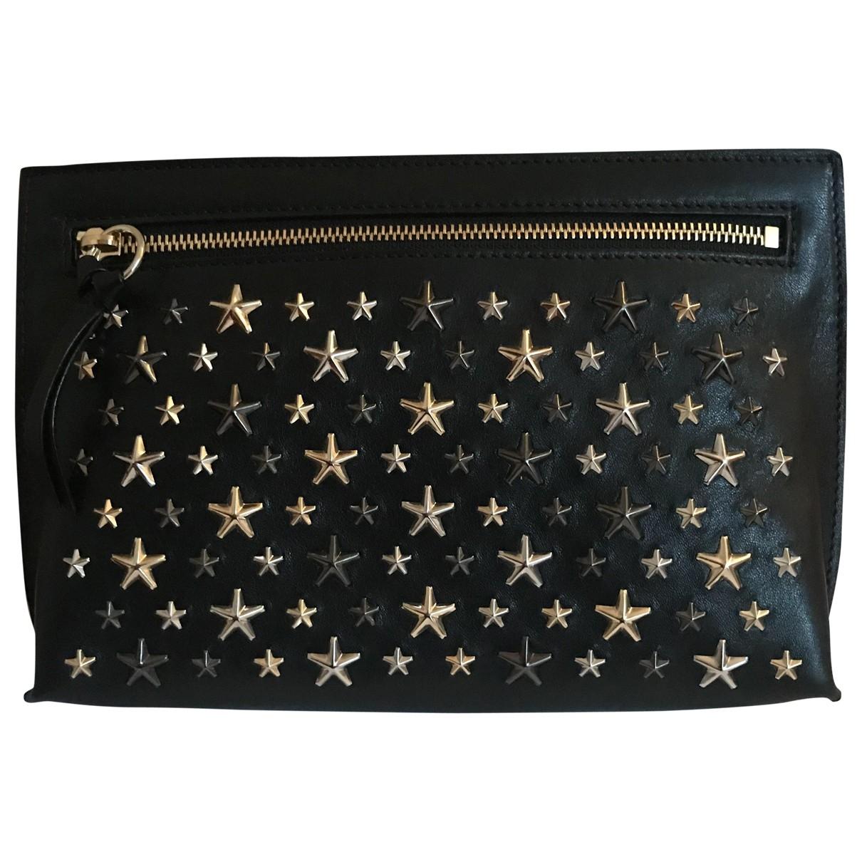 Jimmy Choo \N Black Leather Clutch bag for Women \N