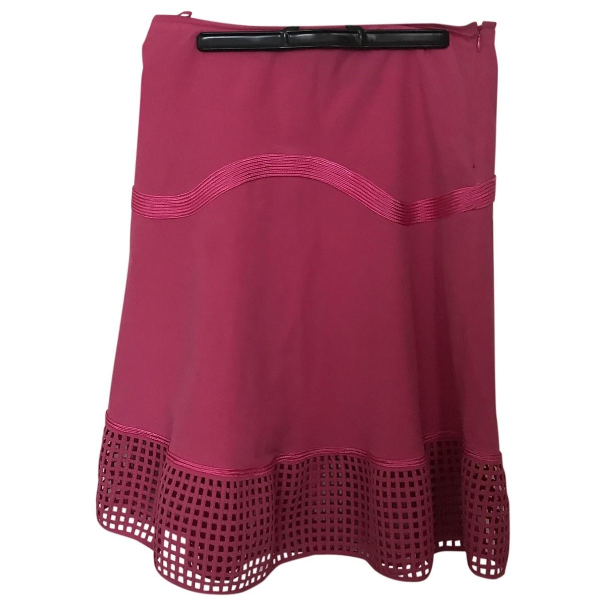 Salvatore Ferragamo - Jupe   pour femme en coton - elasthane - rose