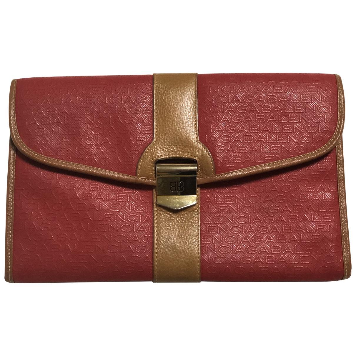 Balenciaga - Petite maroquinerie   pour femme en toile - rouge