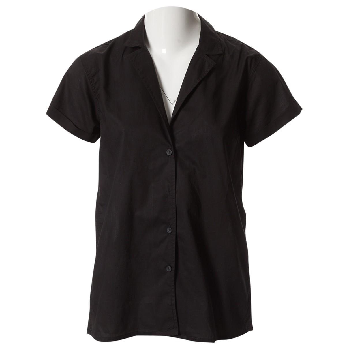 Matteau - Top   pour femme en coton - noir