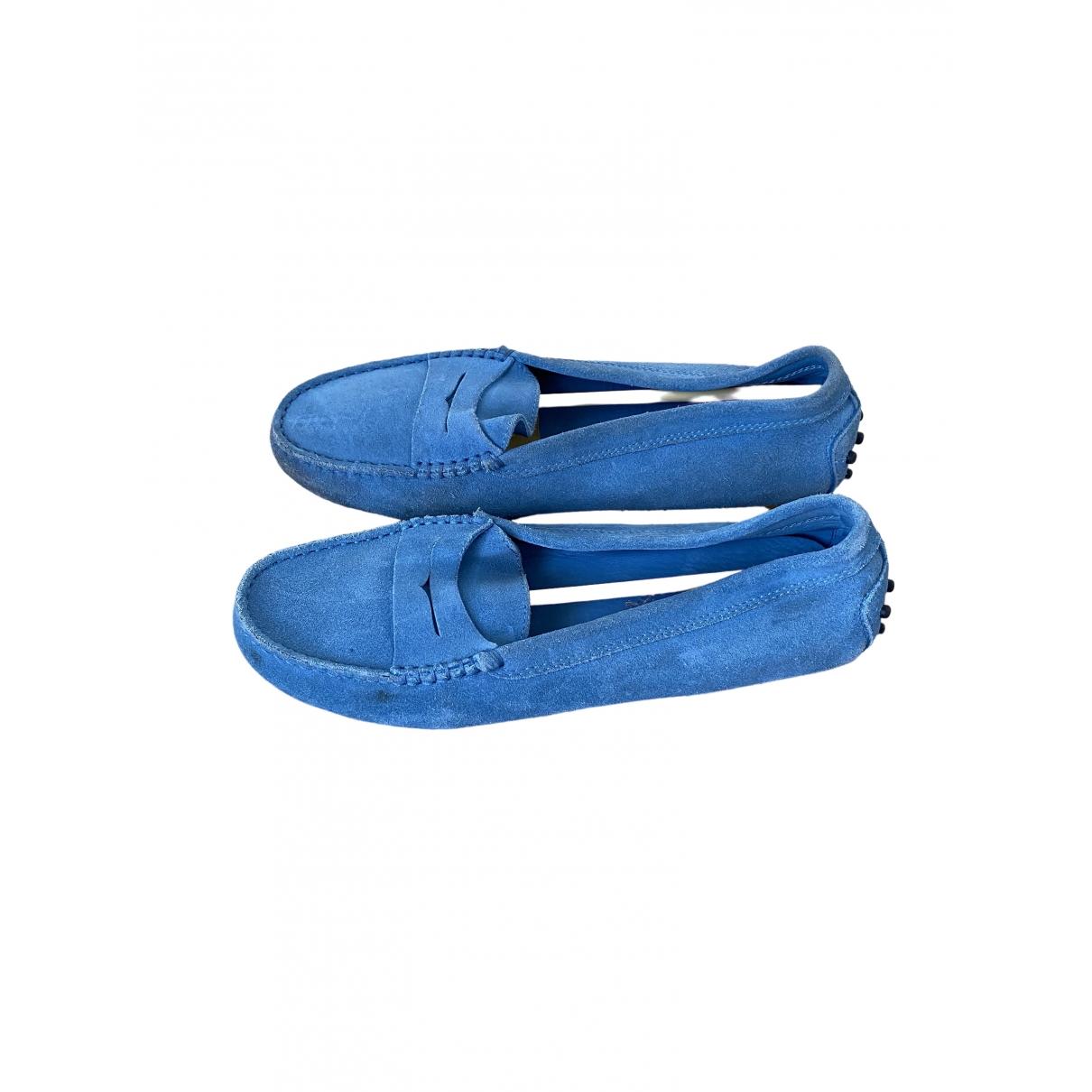 Tod's \N Blue Suede Flats for Women 38 EU