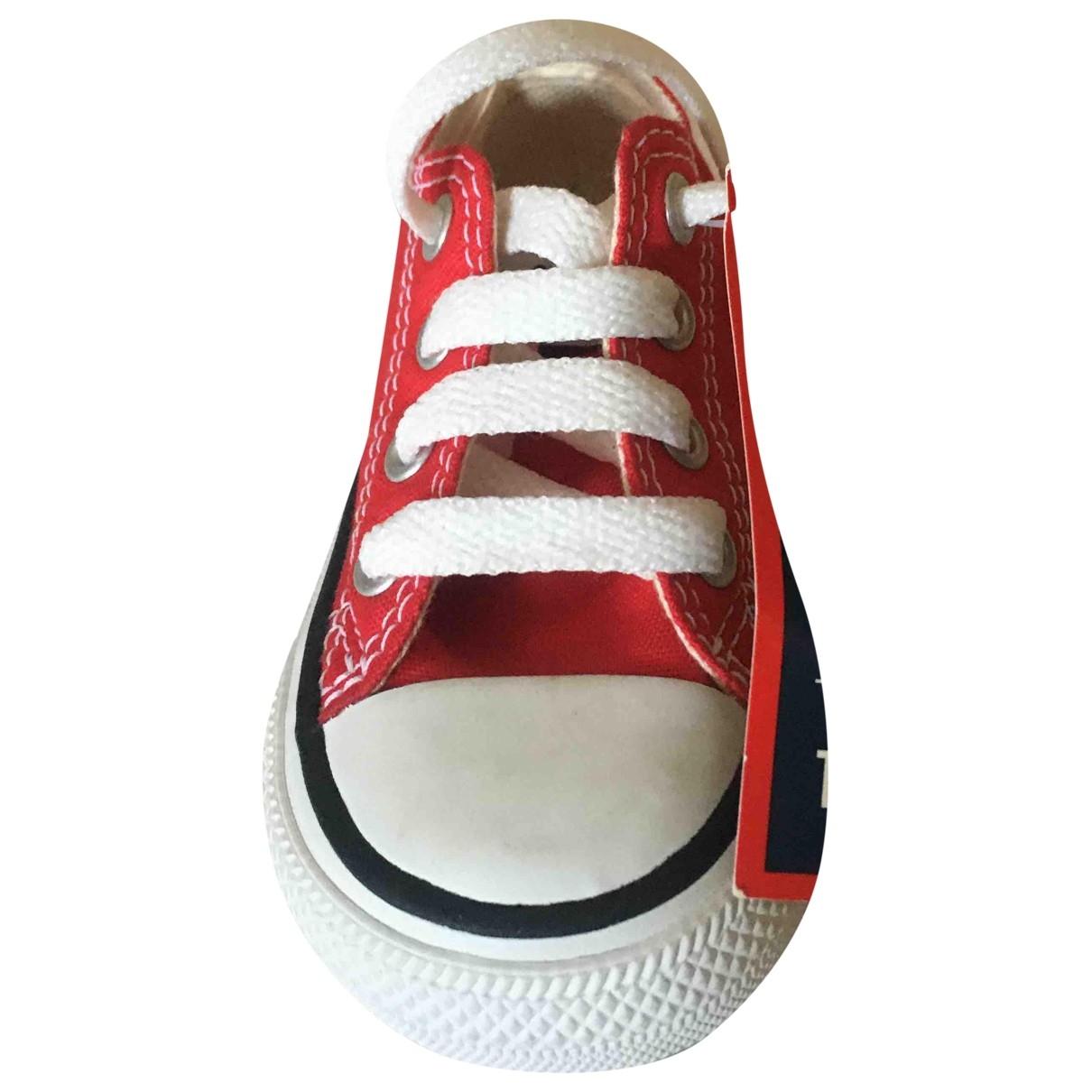 Converse - Baskets   pour enfant en toile - rouge