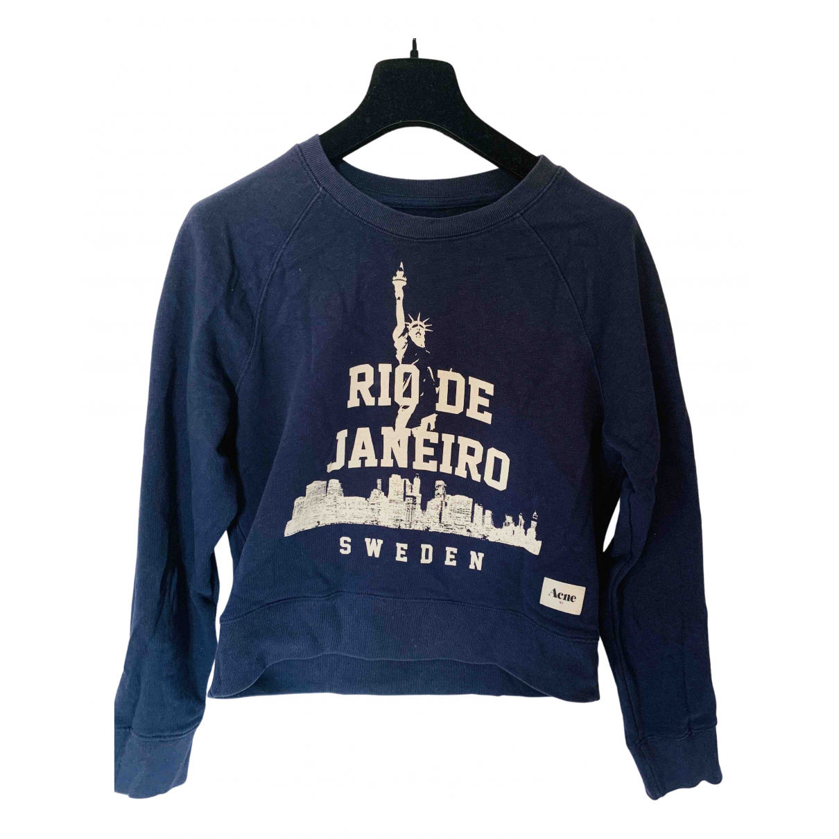 Acne Studios \N Pullover.Westen.Sweatshirts  in  Marine Baumwolle