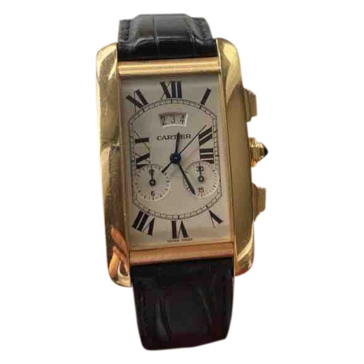 Relojes Tank Americaine de Oro amarillo Cartier