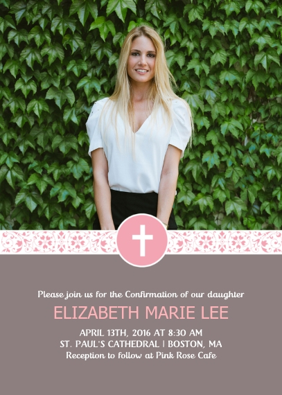 Confirmation 5x7 Cards, Premium Cardstock 120lb with Scalloped Corners, Card & Stationery -The Cross Community