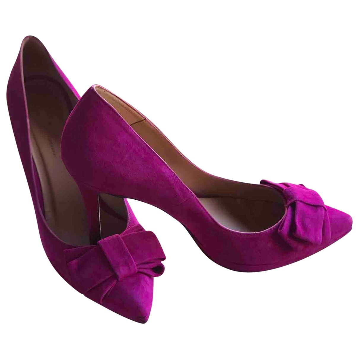 Non Signé / Unsigned \N Pink Suede Heels for Women 40 EU