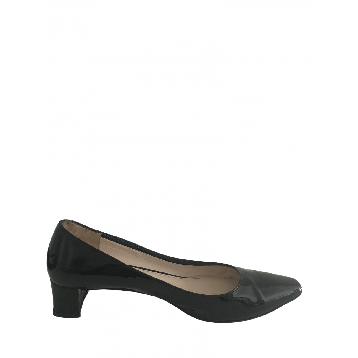Prada \N Black Patent leather Heels for Women 40 IT