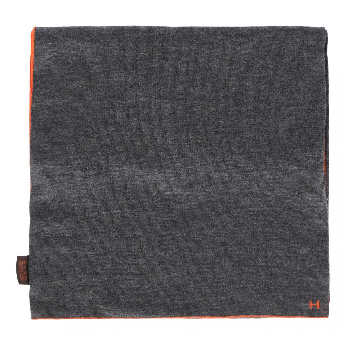 Hermes \N Schal in  Grau Wolle