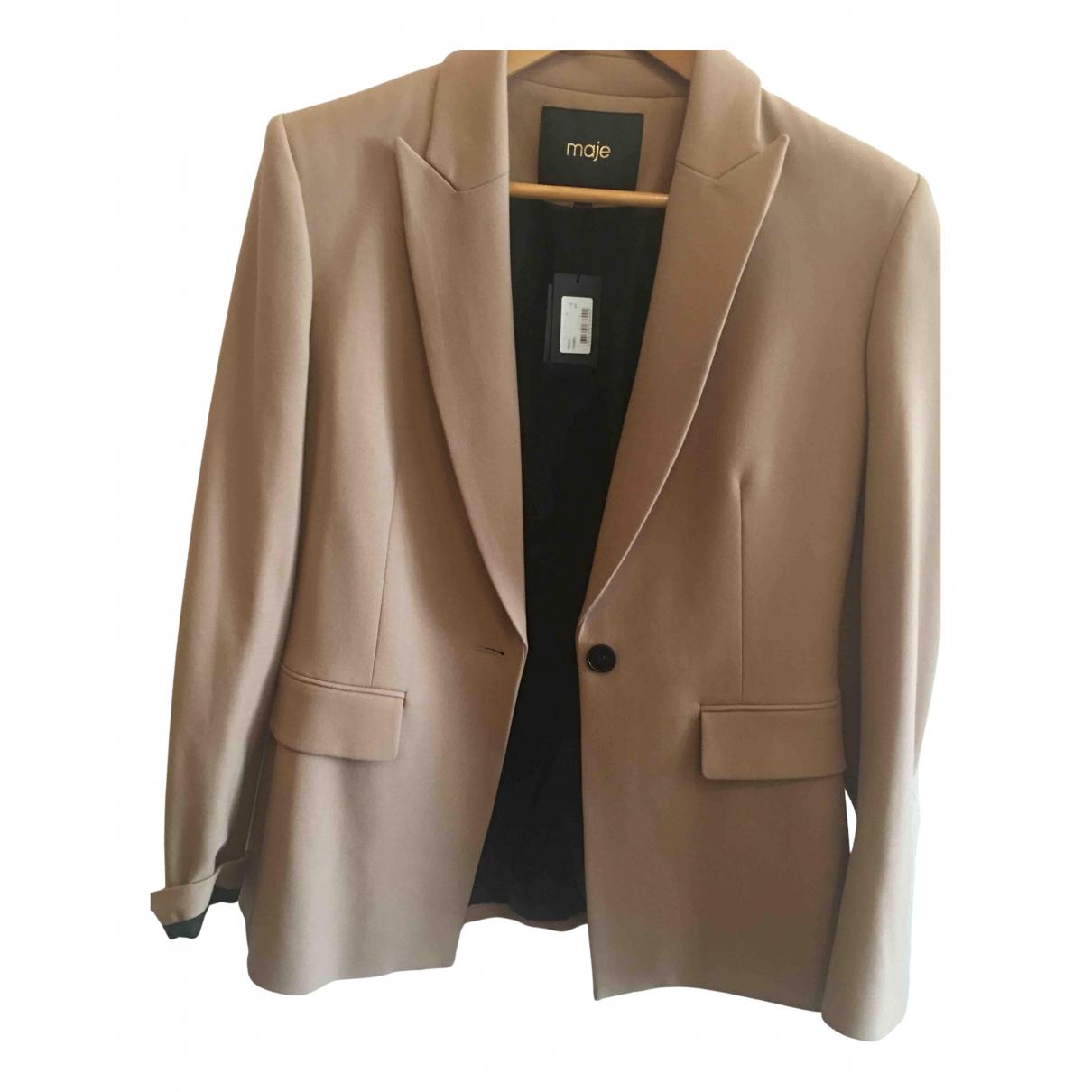 Maje Spring Summer 2019 Camel jacket for Women 40 FR