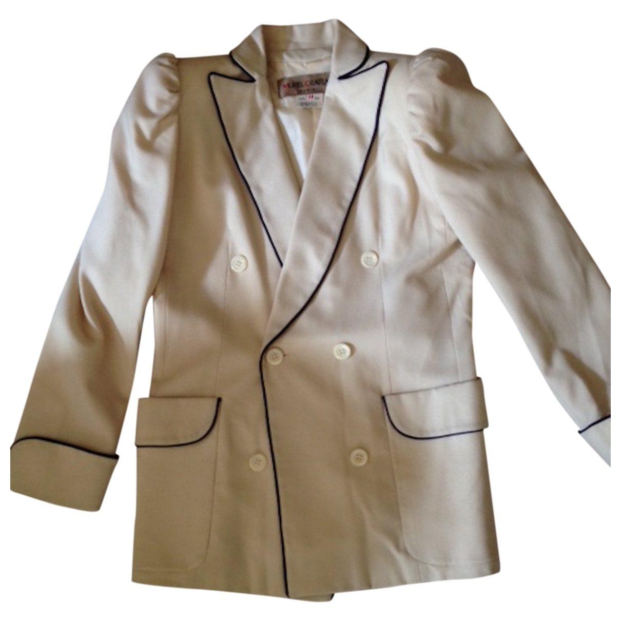 - Veste   pour femme en laine - ecru