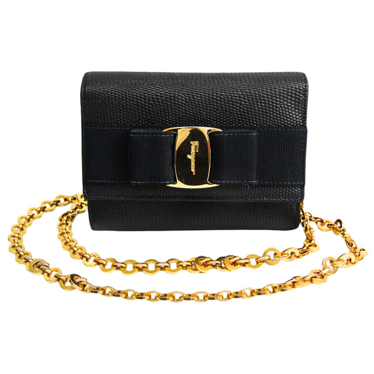 Salvatore Ferragamo Vara Navy Leather handbag for Women N