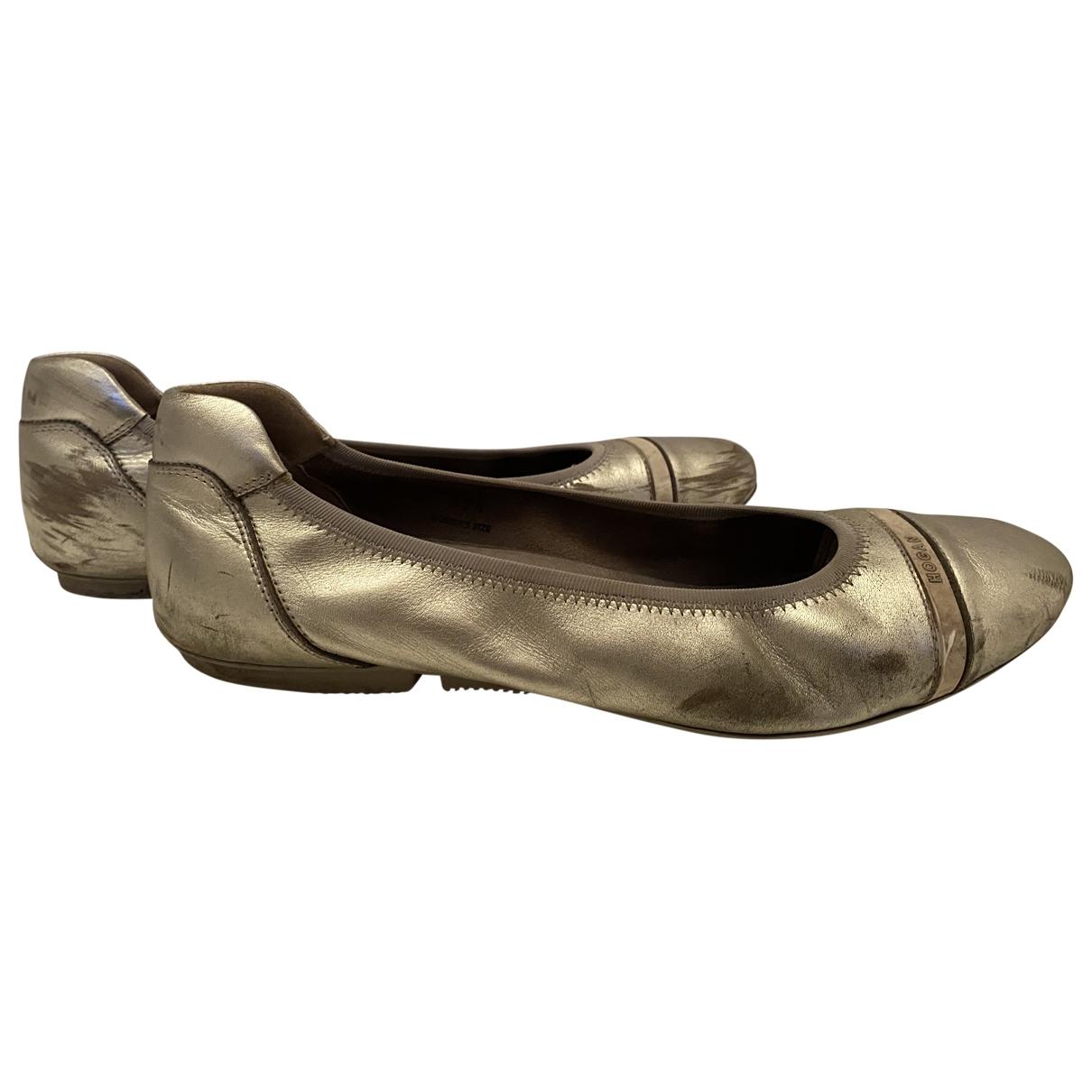 Hogan \N Silver Rubber Ballet flats for Women 39 EU