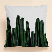 Kissenbezug mit Kaktus Muster ohne Fuellstoff