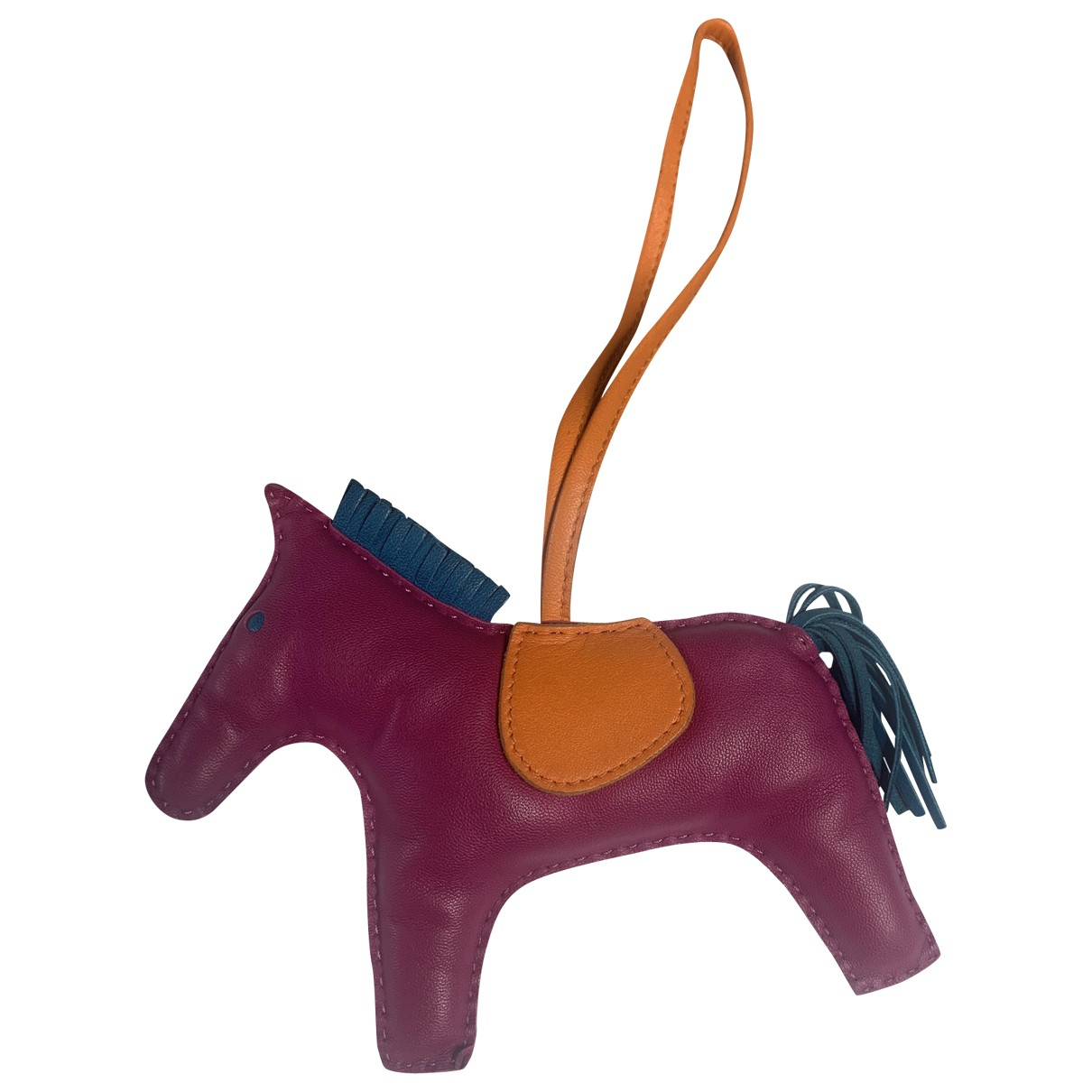 Hermès Rodeo Pink Leather Bag charms for Women \N