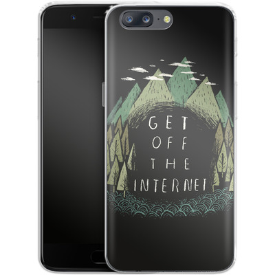 OnePlus 5 Silikon Handyhuelle - Get Off The Internet von Louis Ros