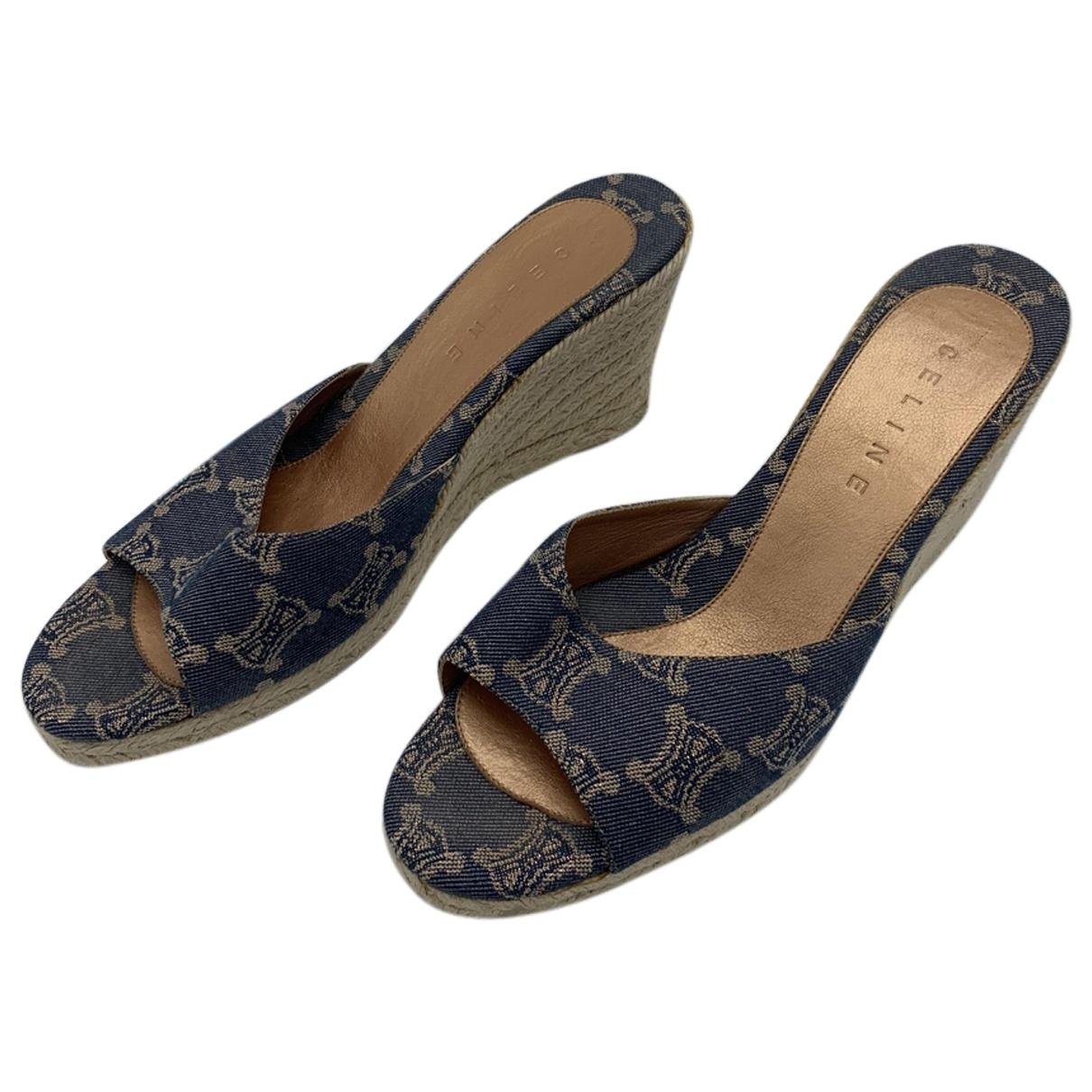 Celine \N Multicolour Cloth Heels for Women 11 US