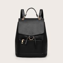 Pocket Front Flap Backpack