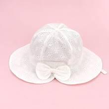 Sombrero cubo de bebe con lazo