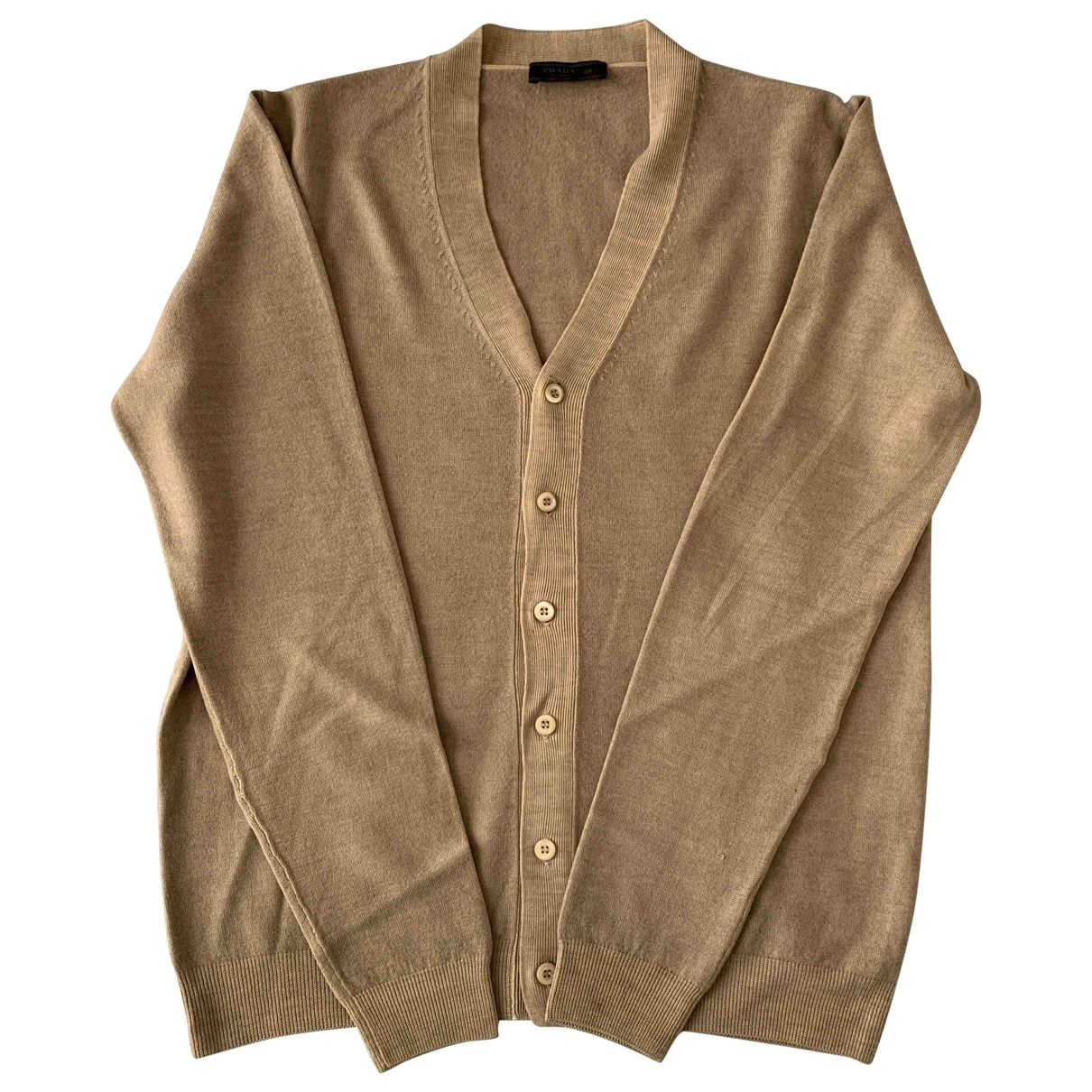 Prada \N Pullover.Westen.Sweatshirts  in  Beige Wolle