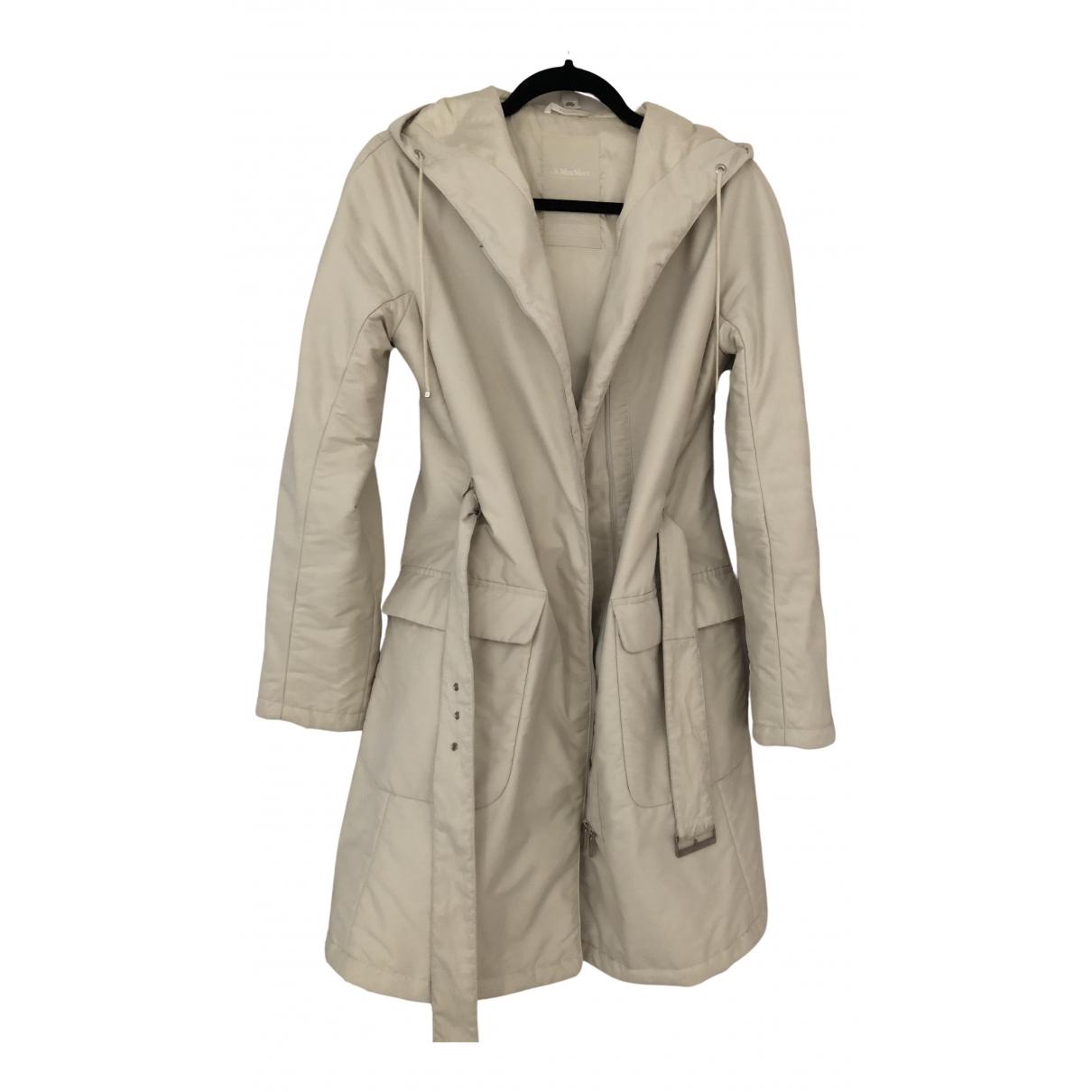 Max Mara 's \N Ecru coat for Women 6 US