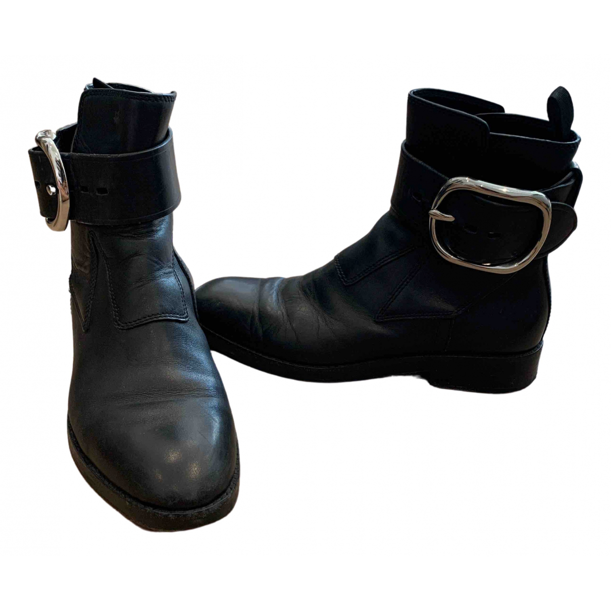 Alexander Wang \N Black Leather Ankle boots for Women 36 EU