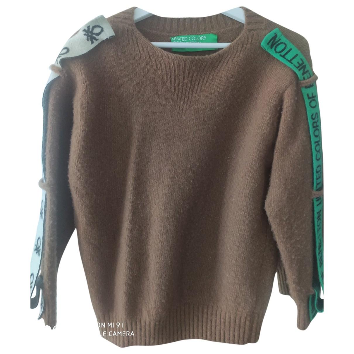 Benetton - Pulls.Gilets.Sweats   pour homme en laine - beige