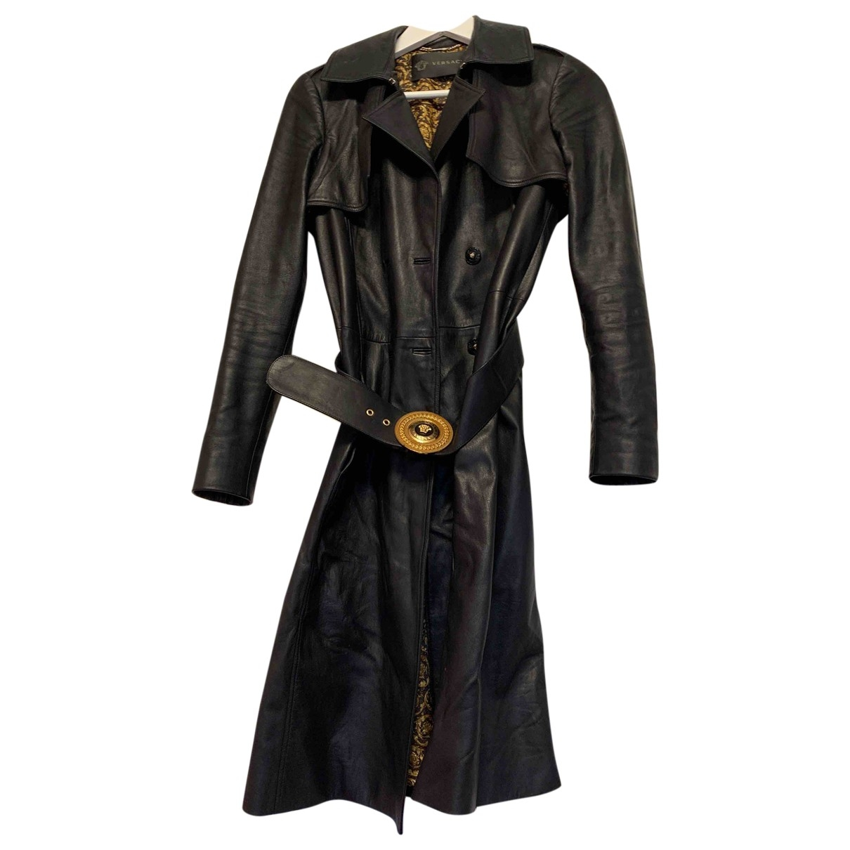 Gianni Versace \N Maentel in  Schwarz Leder