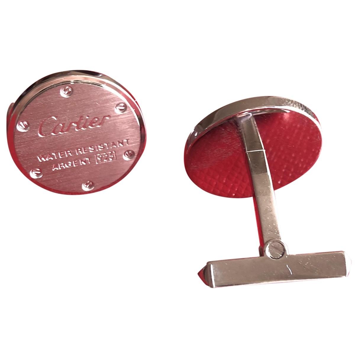 Cartier \N Manschettenknopfe in  Silber Silber
