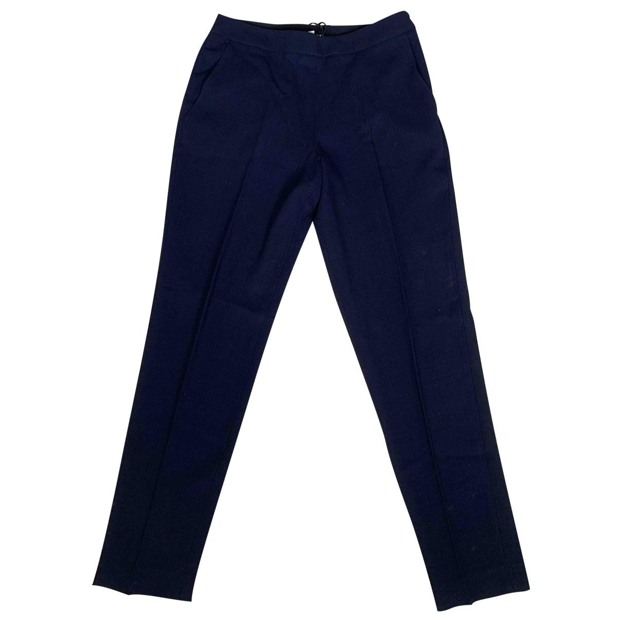 Whistles \N Navy Wool Trousers for Women 8 UK
