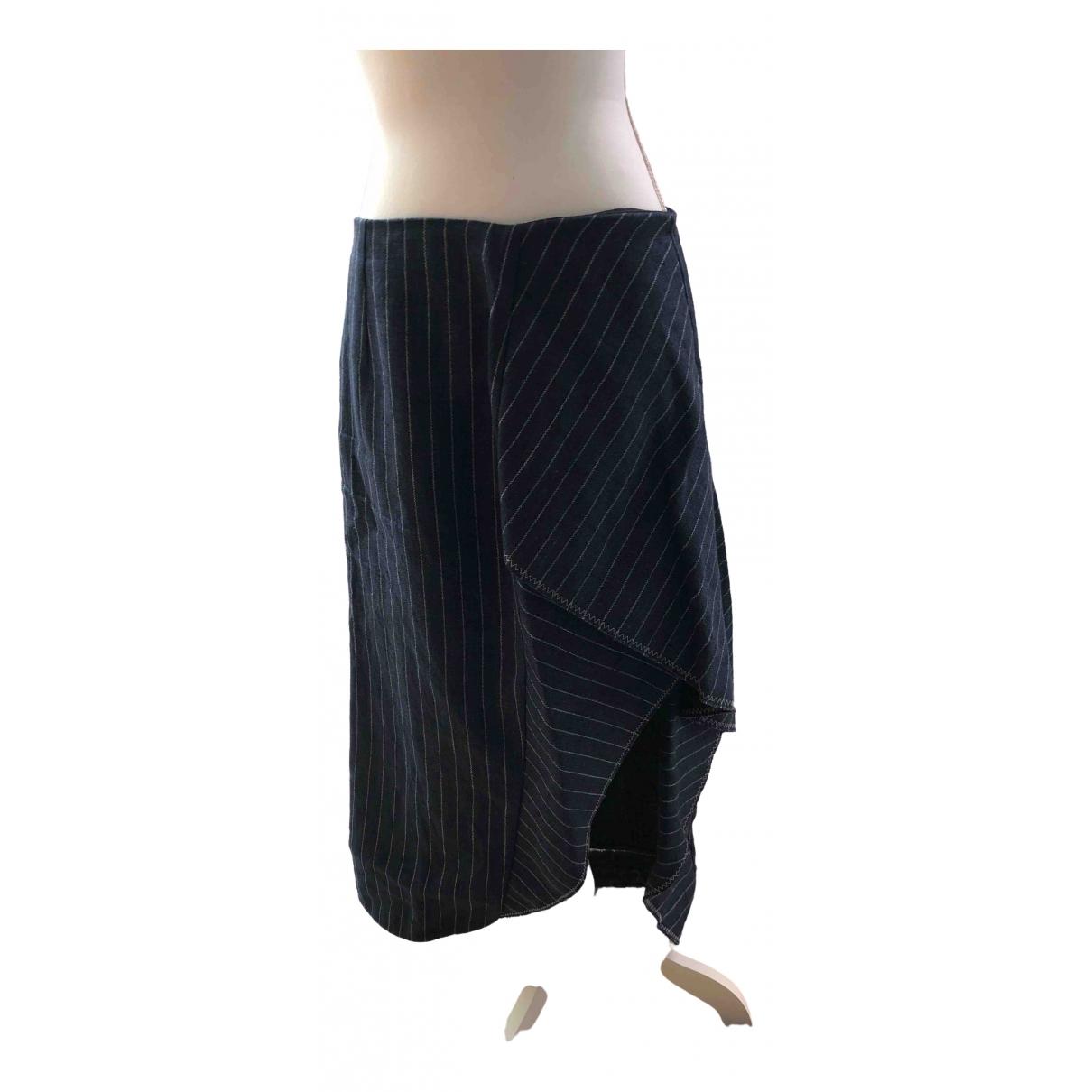 Philipp Plein - Jupe   pour femme en lin - bleu