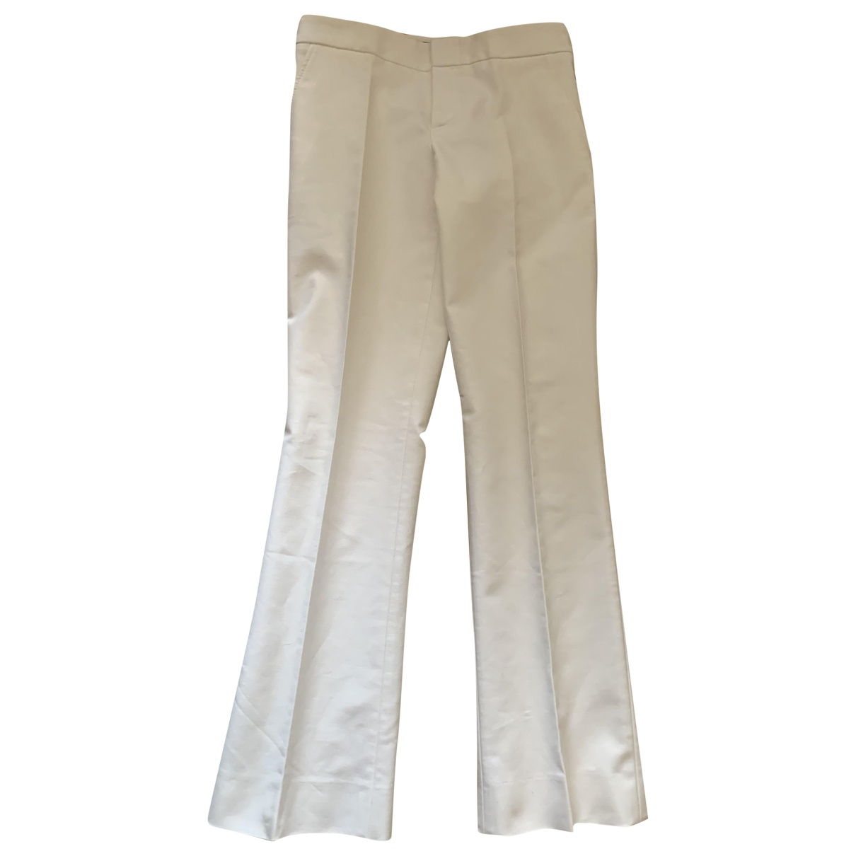 Gucci \N White Cotton Trousers for Women 40 IT