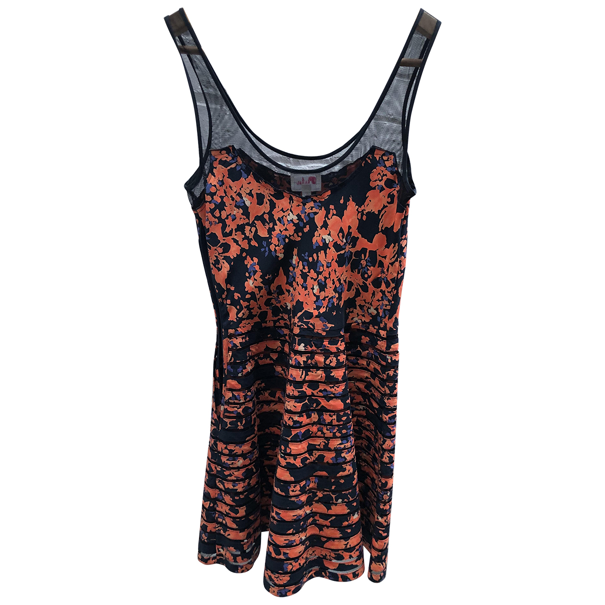 Parker Ny \N Kleid in  Orange Seide