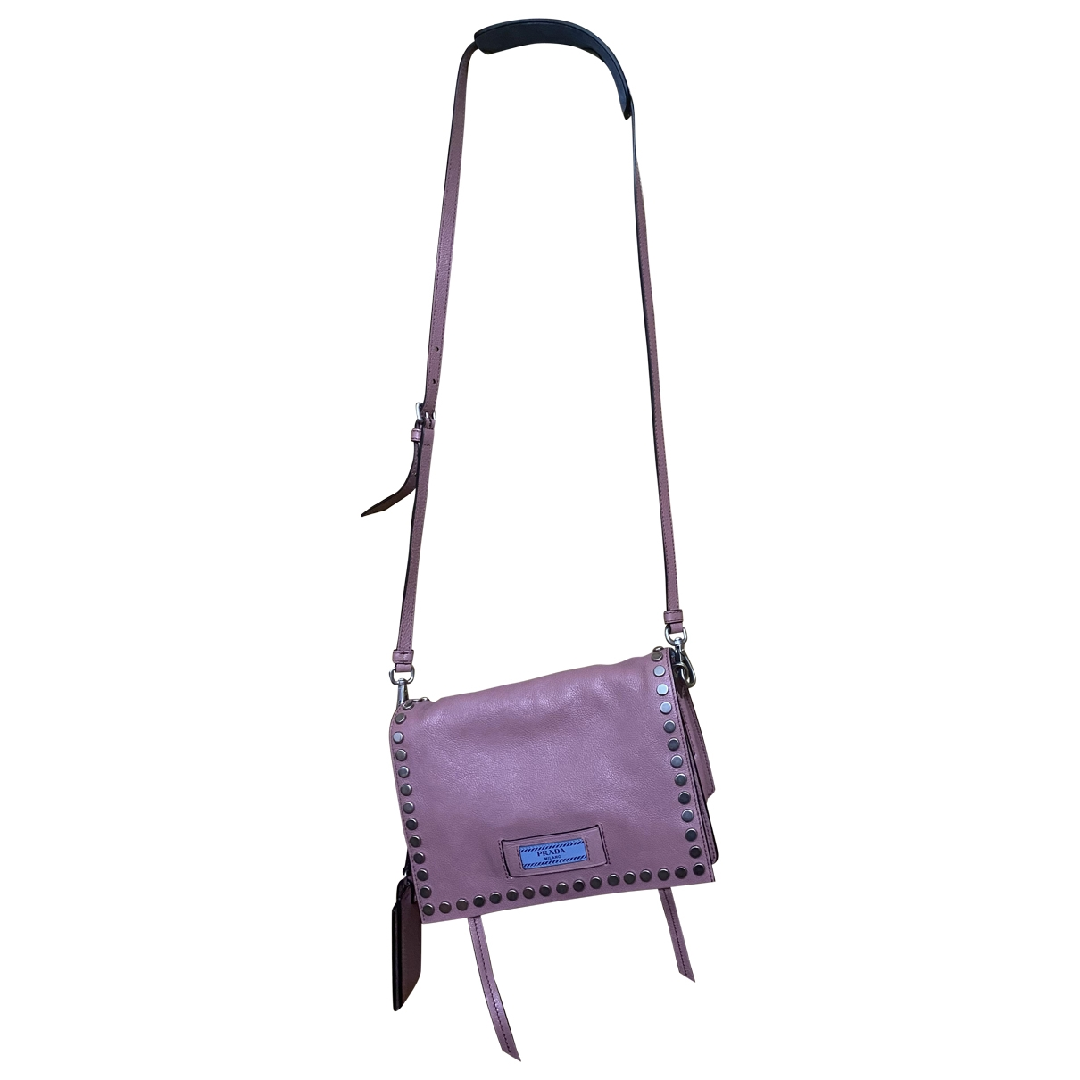 Prada Etiquette Pink Leather Clutch bag for Women \N