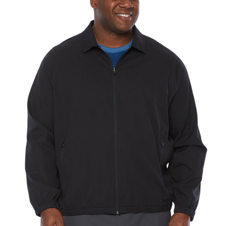 Msx By Michael Strahan Twill Midweight Track Jacket, 2x-large Tall , Black