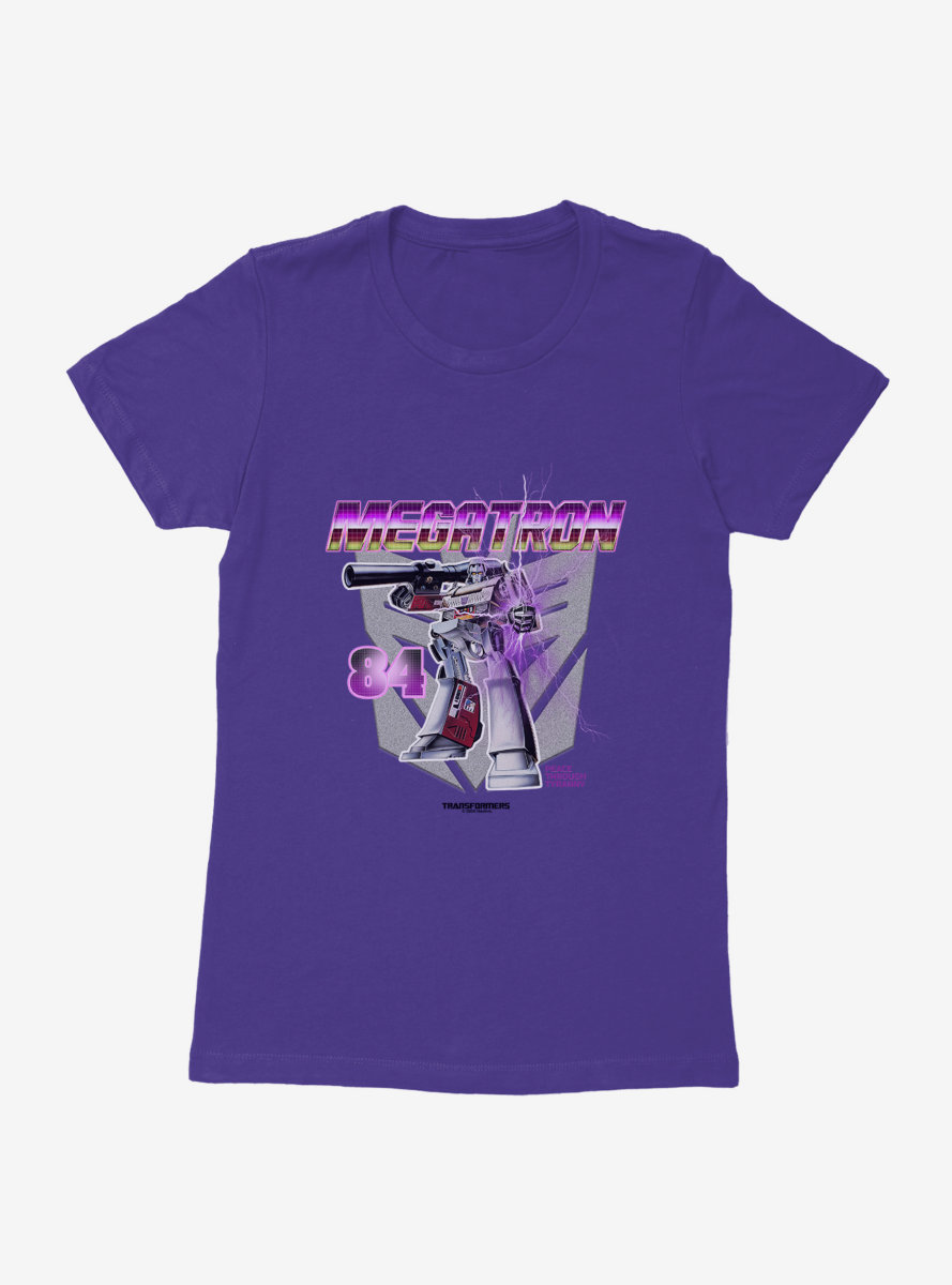 Transformers Megatron In Action Womens T-Shirt