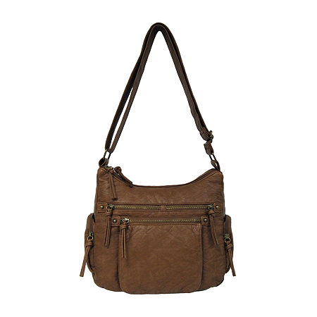 Bueno of California Washed Shoulder Bag, One Size , Brown