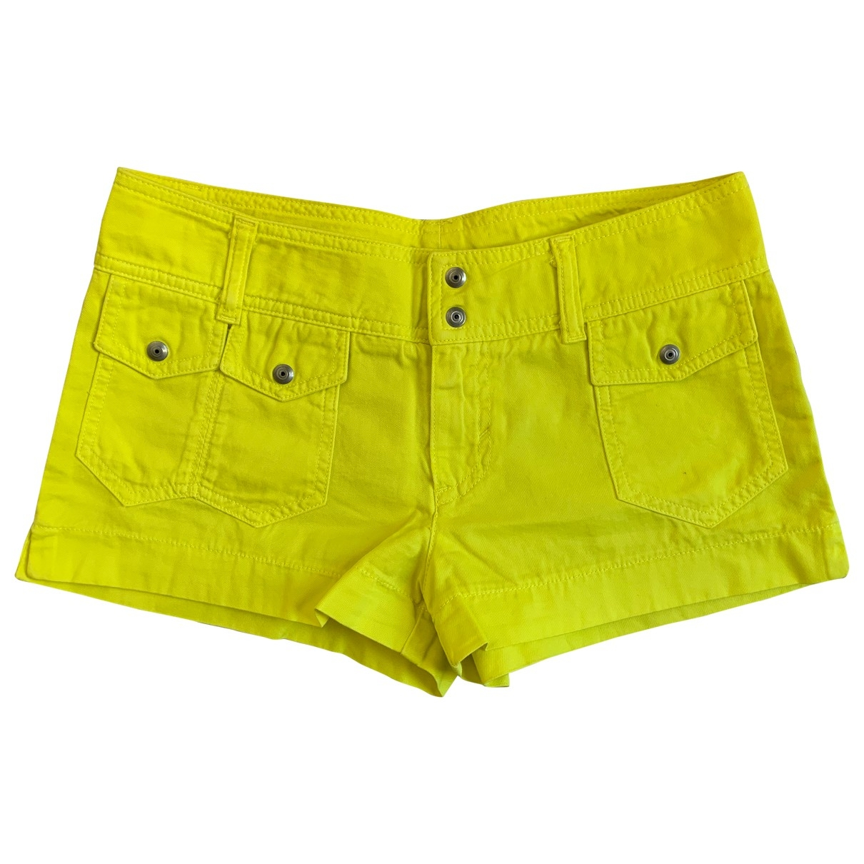 Non Signé / Unsigned \N Yellow Cotton Shorts for Women 40 IT