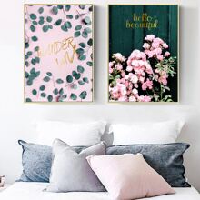 2pcs Plant Print Wall Painting Without Frame