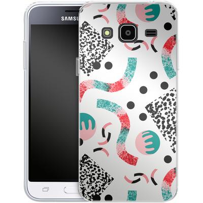 Samsung Galaxy J3 (2016) Silikon Handyhuelle - Confetti von Jenna Kunnas