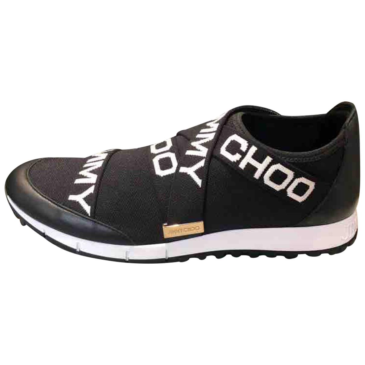 Jimmy Choo \N Black Leather Trainers for Women 41 EU