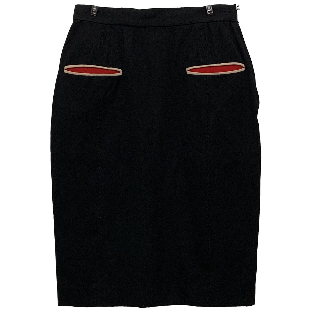 Jean Paul Gaultier \N Black Wool skirt for Women 40 IT