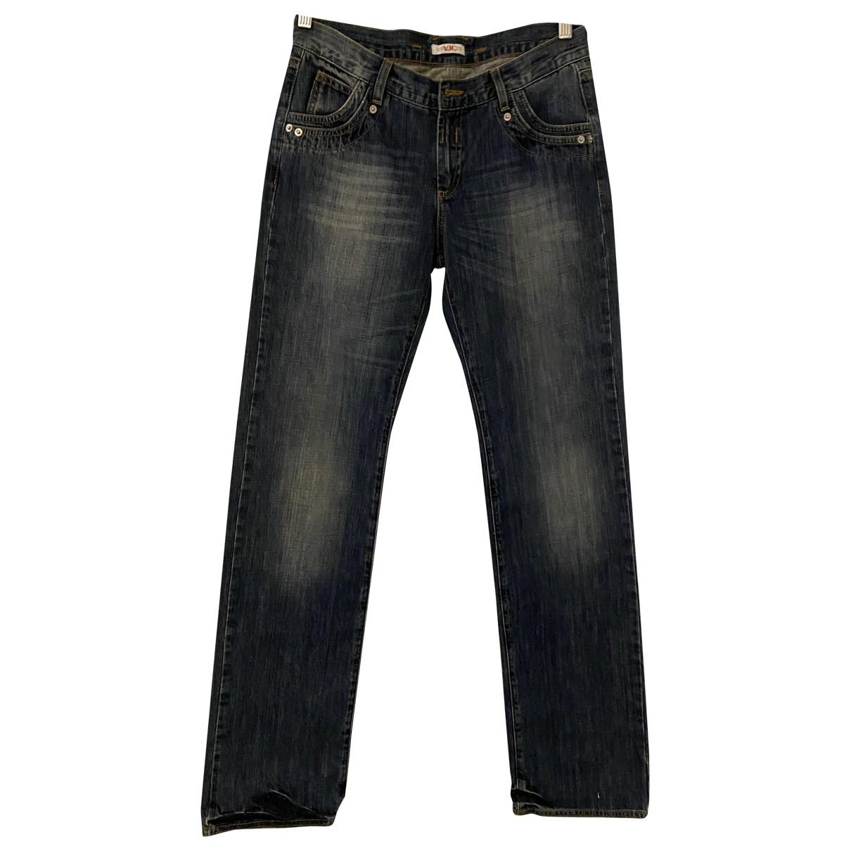Versace Jeans N Blue Cotton Trousers for Women 42 IT